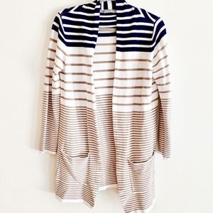 Evolution by Cyrus Front Open Striped Cardigan L